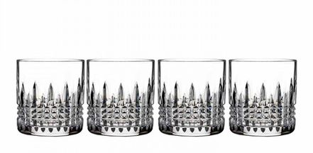 Waterford Lismore Connoisseur Whiskyglas - diamond straight - set van 4