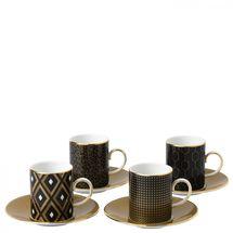 Wedgwood Arris Espressokop en schotel - set van 4
