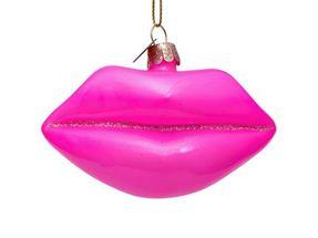 Vondels Kerstboom Decoratie Lippen Roze