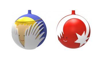 Alessi Kerstballen Set 2-Delig