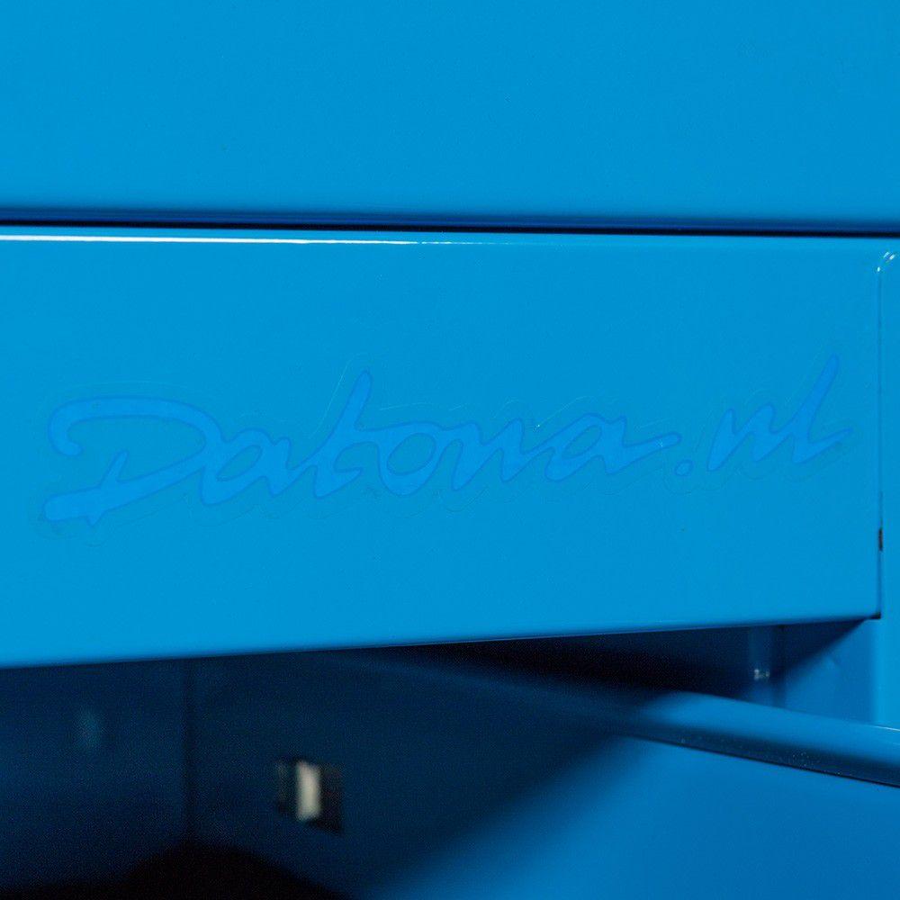 Hoekwerkbank met MDF blad + gereedschapskast blauw 3