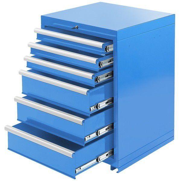 Hoekwerkbank met MDF blad + gereedschapskast blauw 8