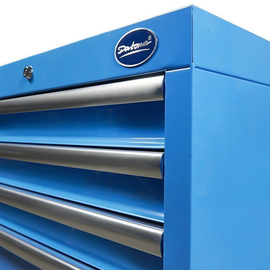 Hoekwerkbank met MDF blad + gereedschapskast blauw 9