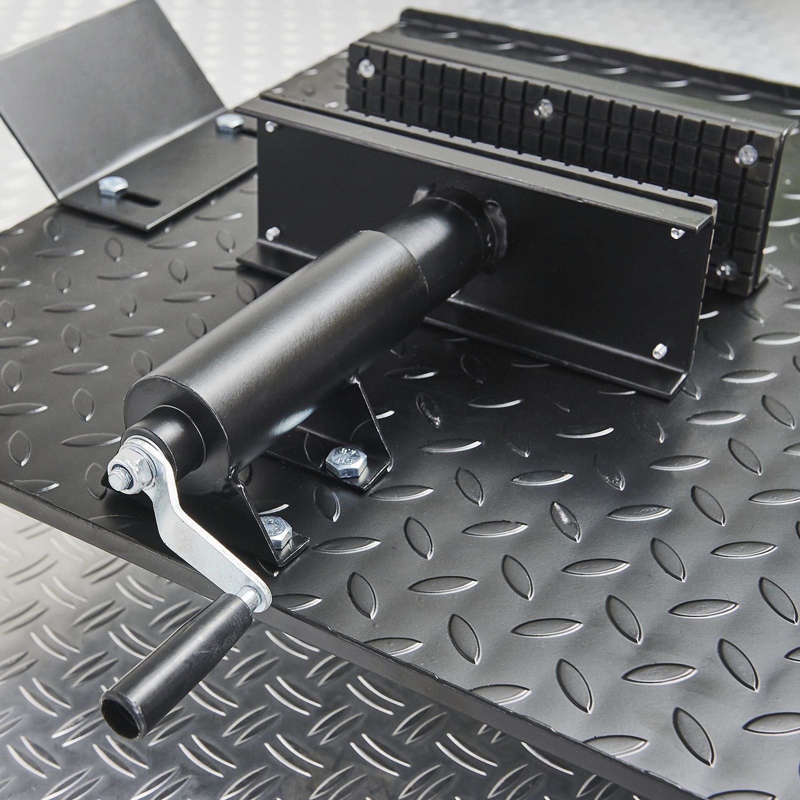 Zwarte motorheftafel 450 kg zwarte wielklem