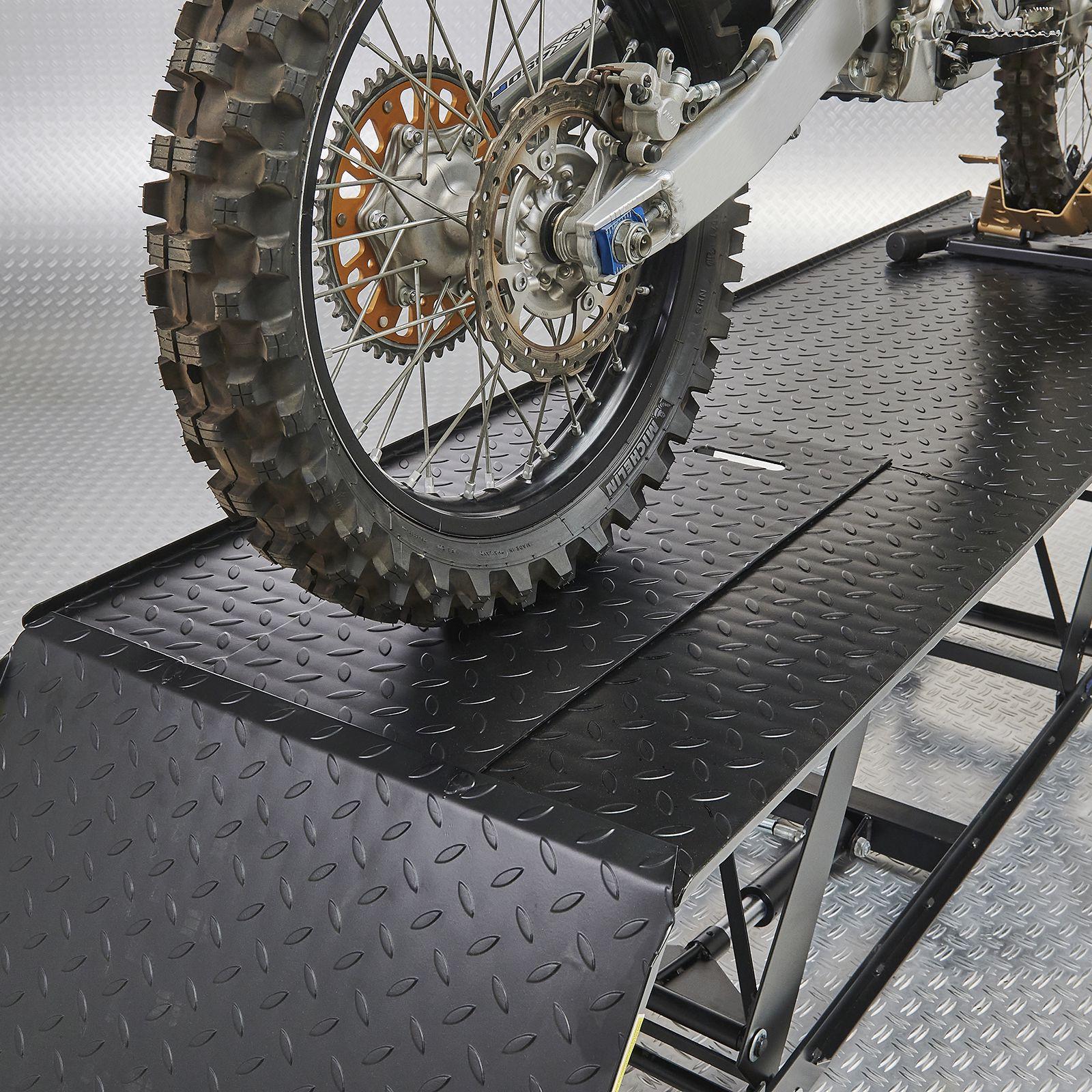 Zwarte motorheftafel 450 kg achterwiel crosser