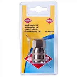 """Compressor snelkoppeling 1/4"""" inwendig schroefdraad"""