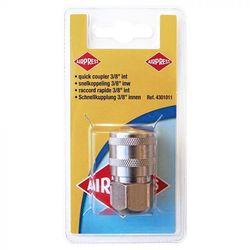 """Compressor snelkoppeling 3/8"""" inwendig schroefdraad 1"""