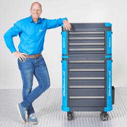 Verrijdbare gereedschapswagen met gereedschapskist L - Premium serie 1