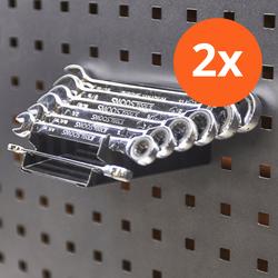 Steek- en ringsleutel houder passend op gatenbord - 2 stuks 1