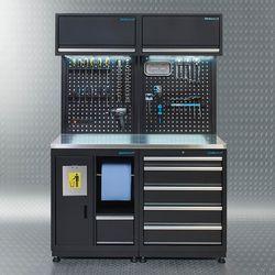 Werkplaatsinrichting PREMIUM met RVS werkblad 135 cm breed 1