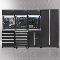 Werkplaatsinrichting PREMIUM met RVS werkblad 300 cm breed 1