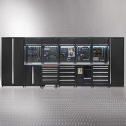 Werkplaatsinrichting PREMIUM met RVS werkblad 500 cm breed 1