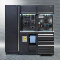 Werkplaatsinrichting PREMIUM met RVS werkblad 200 cm breed 1