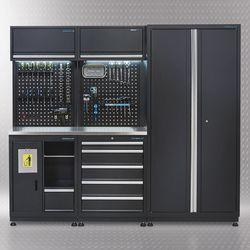 Werkplaatsinrichting PREMIUM met RVS werkblad 225 cm breed 1
