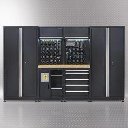 Werkplaatsinrichting PREMIUM met eiken werkblad 315 cm breed 1