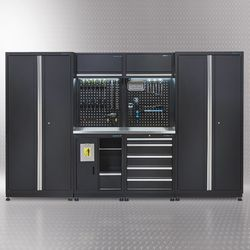 Werkplaatsinrichting PREMIUM met RVS werkblad 315 cm breed 1
