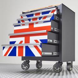 Gereedschapswagen Engelse vlag 5 laden 2