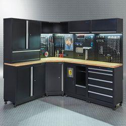 Werkplaatsinrichting PREMIUM met eiken werkblad 410 cm breed 1