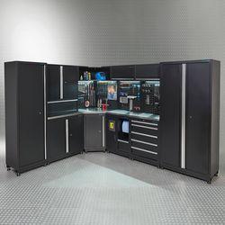 Werkplaatsinrichting PREMIUM met RVS werkblad 560 cm breed 1