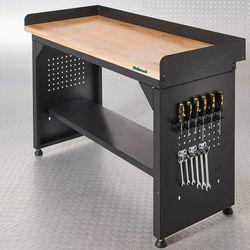 Werkbank PRO met eiken werkblad en legbord - 150 cm 1