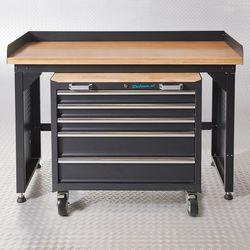 Werkbank PRO met bamboe werkblad en gereedschapswagen - 150 cm 1