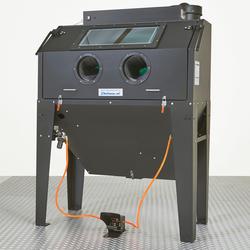 Straalcabine met voordeur en afzuiging - 420 liter + straalgrit 1