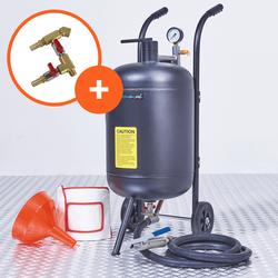 Mobiele straalketel - 80 liter + soda straalkit 1
