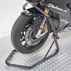 Zwarte paddockstand Xtreme - voorwiel 1