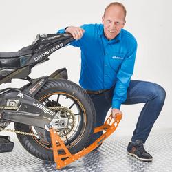 MotoGP Motorstand achterbrug KTM Oranje