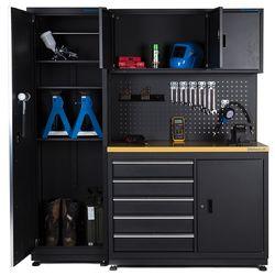 Werkbank garage 120 cm met smalle werkplaatskast 1