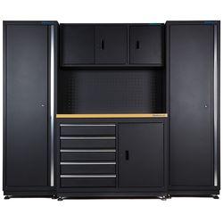 Werkbank 120 cm met gereedschapsbord en werkplaatskasten 1