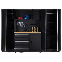 Werkbank 120 cm met gereedschapskast, smalle werkplaatskast en brede opbergkast 1