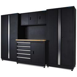 Werkbank 120 cm met gereedschapskast en twee werkplaatskasten 1