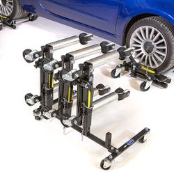 Automovers hydraulisch 4 stuks met opbergrek 1