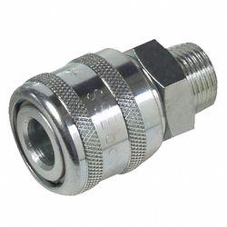 3 stuks compressor snelkoppeling 1/4'' uitwendig schroefdraad 1