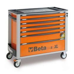 Beta extra brede gereedschapswagen met 7 laden - oranje 1