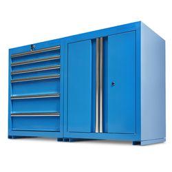 Werkplaatskasten set PRO - blauw 1