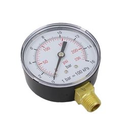 2 stuks manometer voor compressor Airpress met 1/4 aansluiting 1