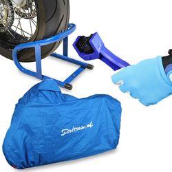 Motor onderhoudsset 3-in-1 (kettingborstel, parkeerklem en motorhoes) 1