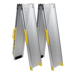 Aluminium oprijplaat opvouwbaar - 180 cm (2 stuks) 1