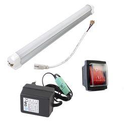 Reserve onderdelen straalcabine - adapter, led lamp en schakelaar 1