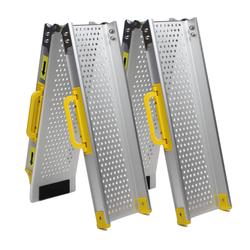 Aluminium oprijplaat inklapbaar - 120 cm (2 stuks) 1