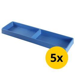Vakverdeling lang met 2 compartimenten - 5 stuks 1