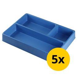 Vakverdeling met 3 compartimenten - 5 stuks 1