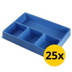 Vakverdeling met 4 compartimenten - 25 stuks 1