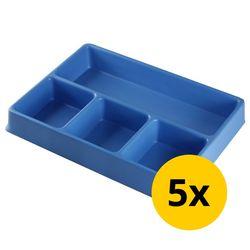 Vakverdeling met 4 compartimenten - 5 stuks 1