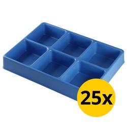 Vakverdeling met 6 compartimenten - 25 stuks 1