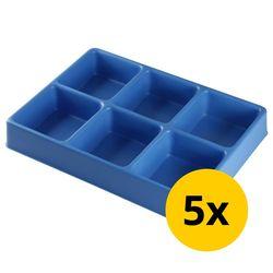 Vakverdeling met 6 compartimenten - 5 stuks 1