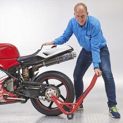 Achterwiel KTM motor liften