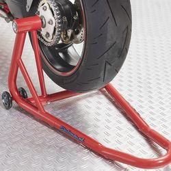 Datona rode paddockstand voor Ducati onder motor